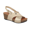 Leather Woman Sandal Beige  (330C63   1G)
