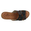 Leather Woman Slipper Black  (370D60   1G)