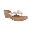 Leather Woman Slipper Light Grey  (37D62   1G )