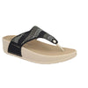 Cloth Woman Slipper Black  (380C48   A2)