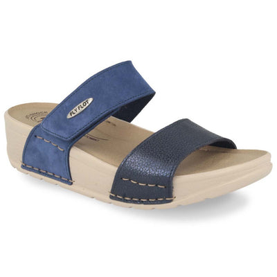 See photos Leather Woman Slipper Blue (38C7912)
