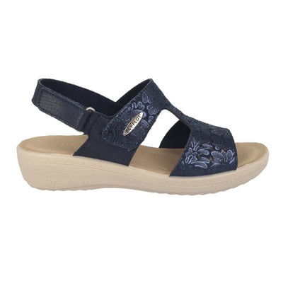 Cloth Woman Sandal Blue  (550D69   HB)