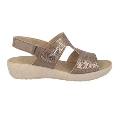 Cloth Woman Sandal Taupe  (550D69   HB)