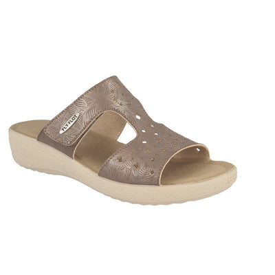 Cloth Woman Slipper Taupe  (550D70   MB)