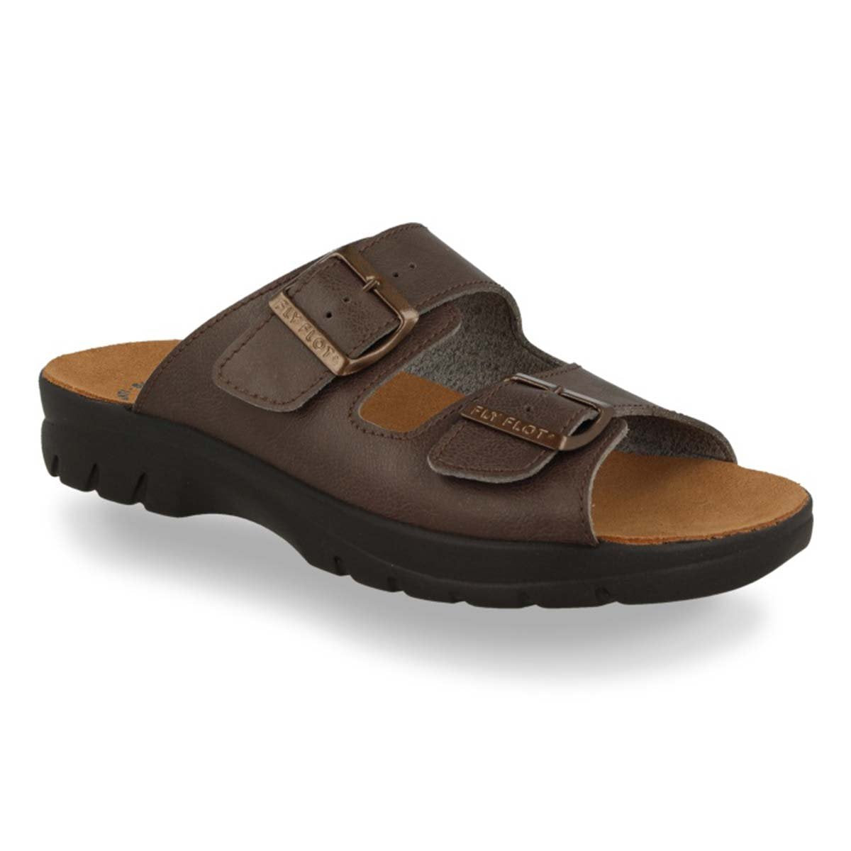 See photos Synthetic Man Slipper Brown (62044UC)