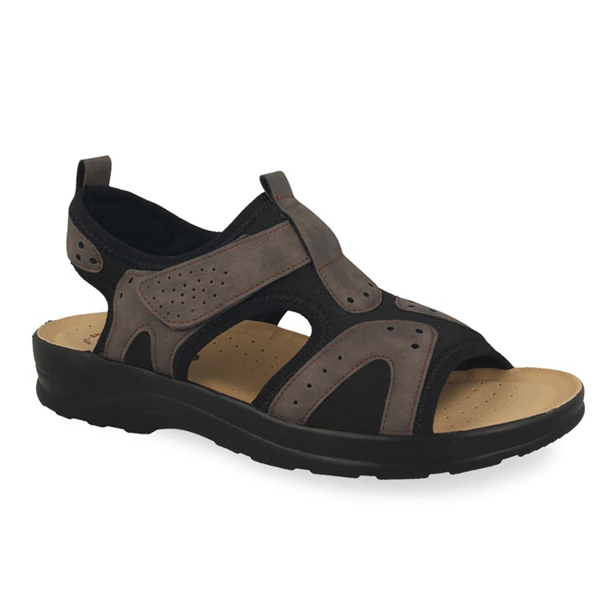See photos Synthetic Man Sandal Dark Brown (S5178LB)
