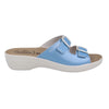Synthetic Woman Slipper Light Blue  (T50C24   JB)