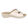 Cloth Woman Slipper White  (T50C33   6B)