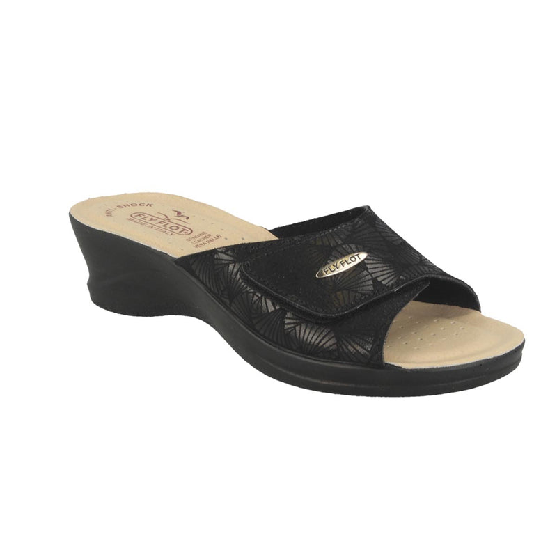 Cloth Woman Slipper Black (96a63lb)