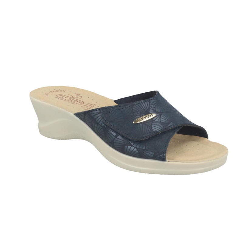Cloth Woman Slipper Blue (96a63lb)