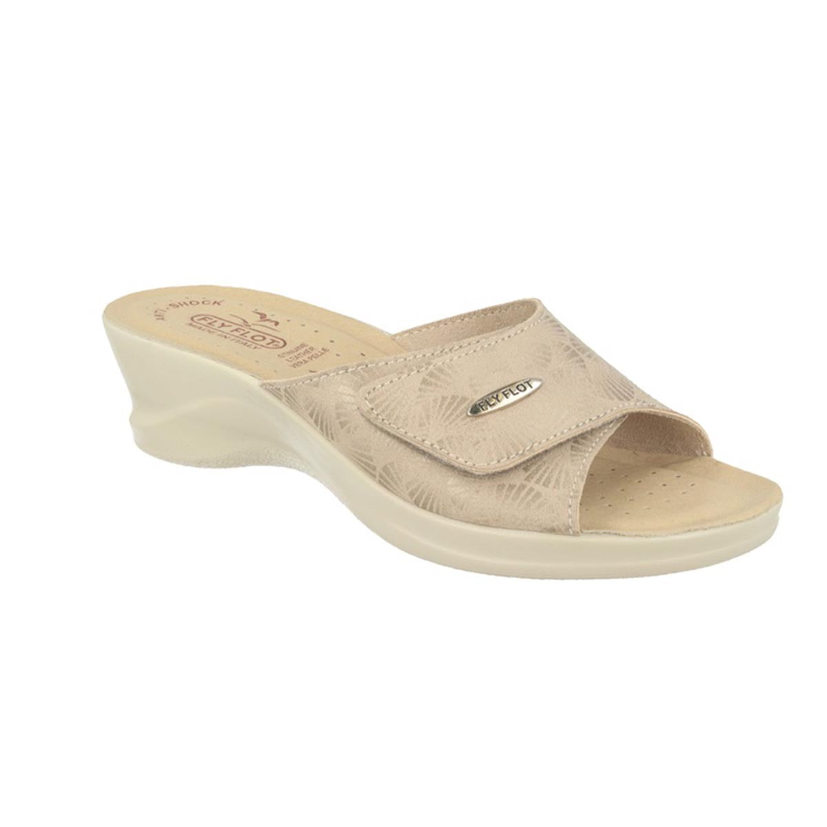 Cloth Woman Slipper Beige (96a63lb)