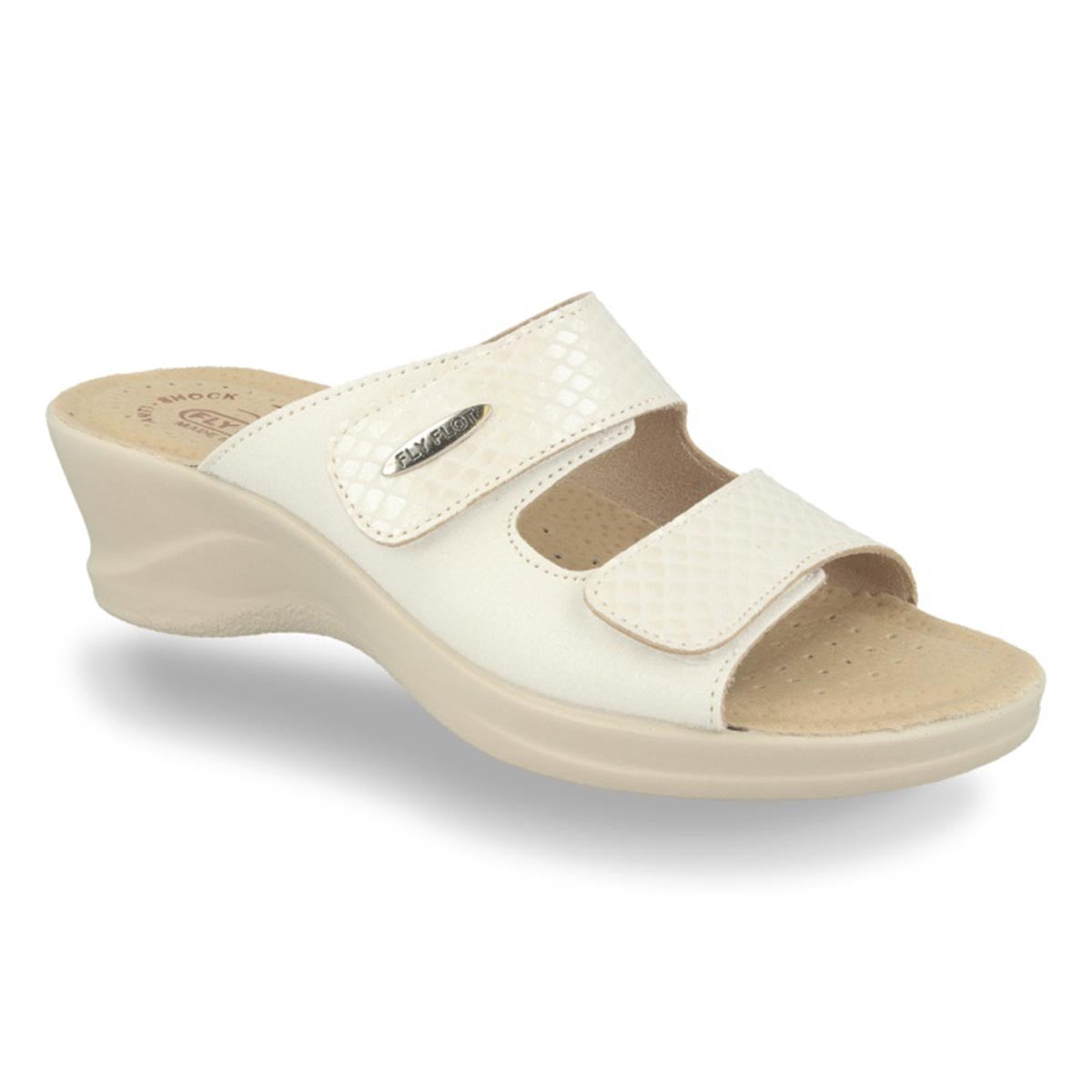 Cloth Woman Slipper White (96e28lb)