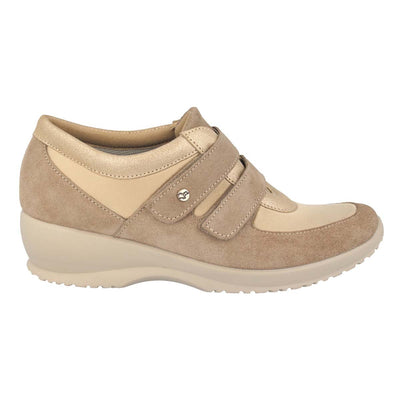 Synthetic Leather Woman Shoe Beige  (170B35   QQ)