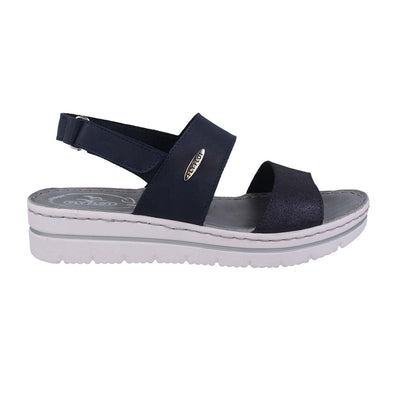 Leather Woman Sandal Blue  (250B79   QG)