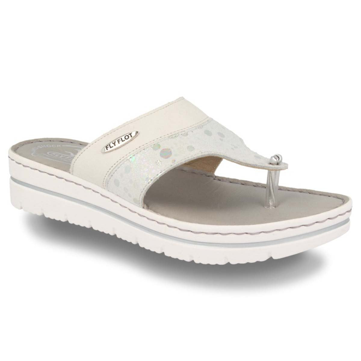 Leather Woman Slipper Light Grey  (250B80   IG)
