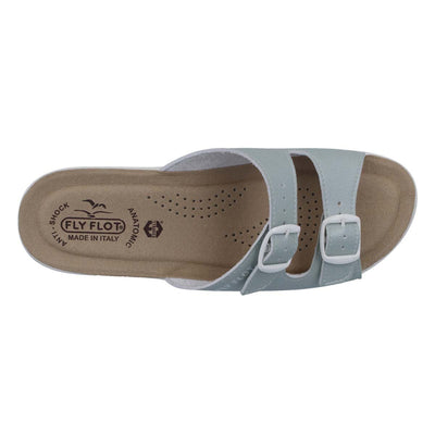 Synthetic Woman Slipper Water Green  (T50C24   JB)
