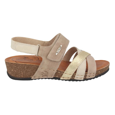 Leather Woman Sandal Taupe  (230D15   PG)