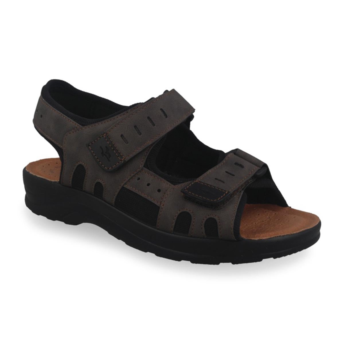 Synthetic Man Sandal Dark Brown (S5037cb)