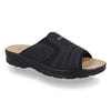 Synthetic Man Slipper Black (S5436cb)