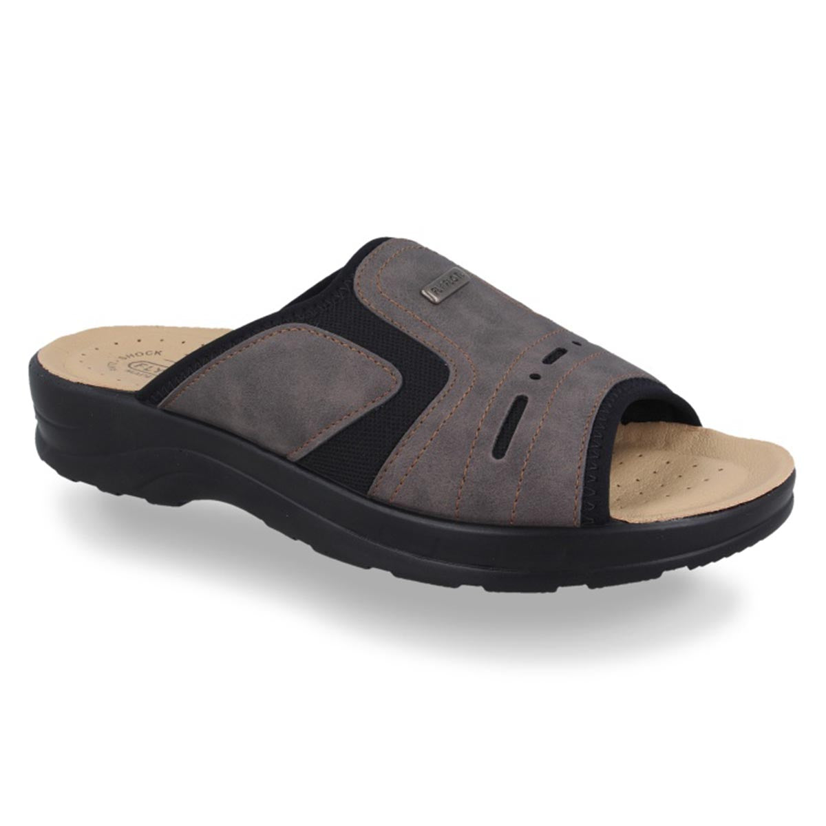 Synthetic Man Slipper Dark Brown (S5436cb)