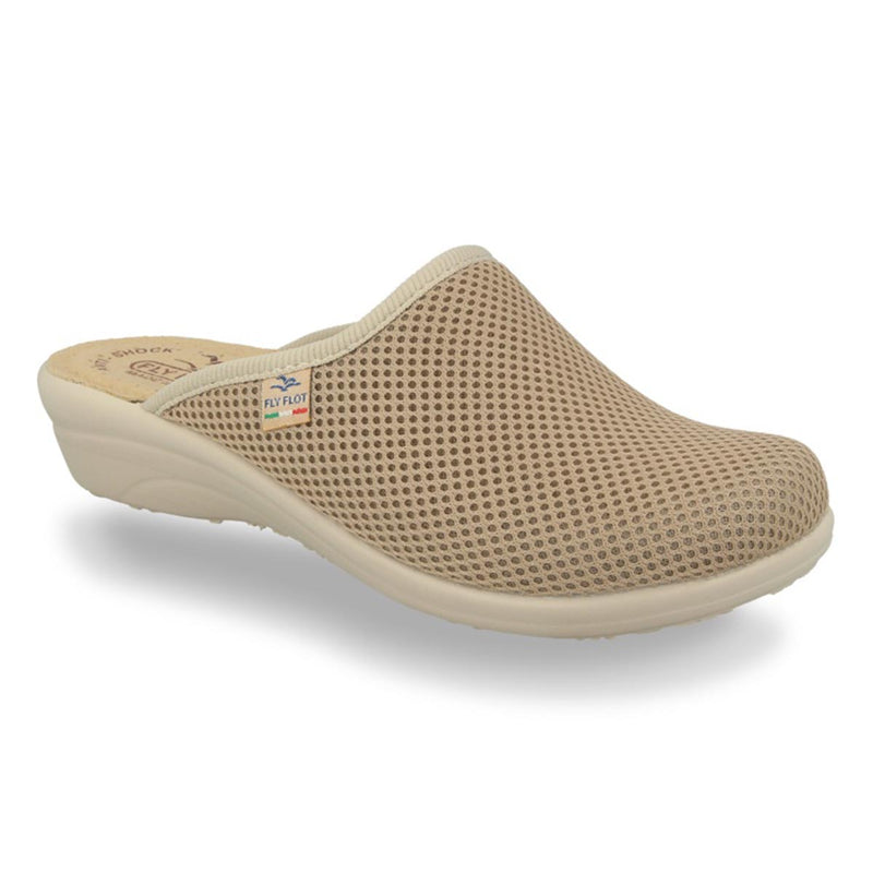Cloth Woman Slipper Beige (T4368fb)