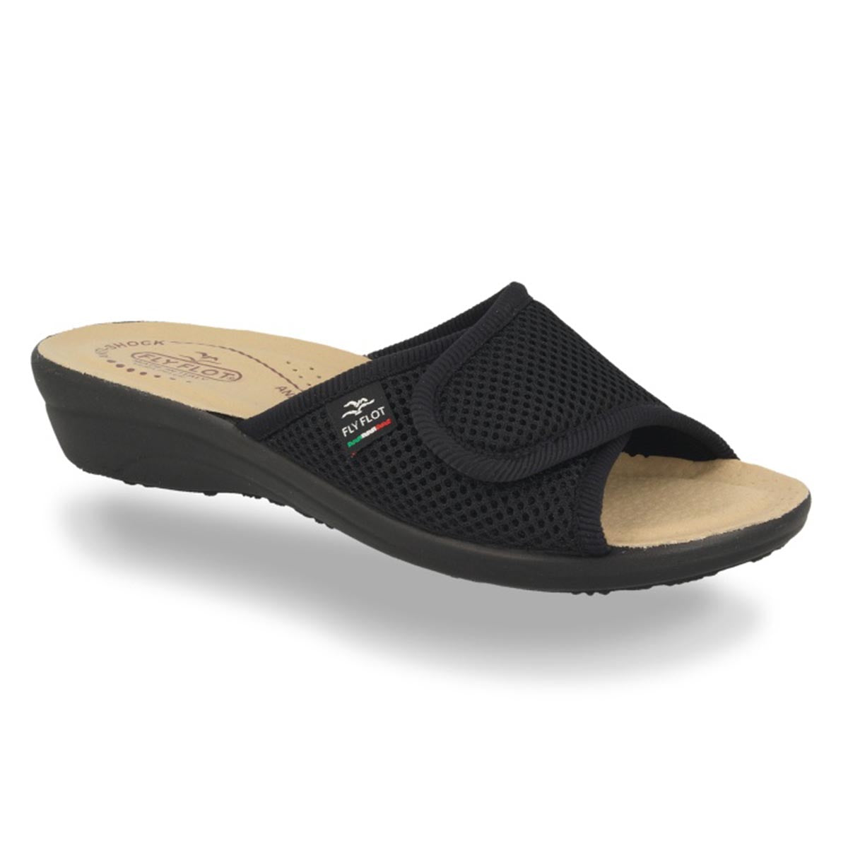 Cloth Woman Slipper Black (T4413fb)