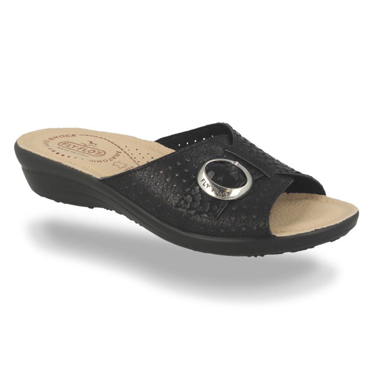 Cloth Woman Slipper Black (T4a522b)