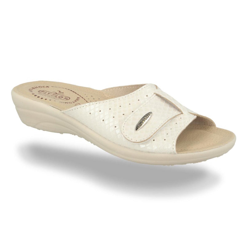 Cloth Woman Slipper White (T4a57lb)