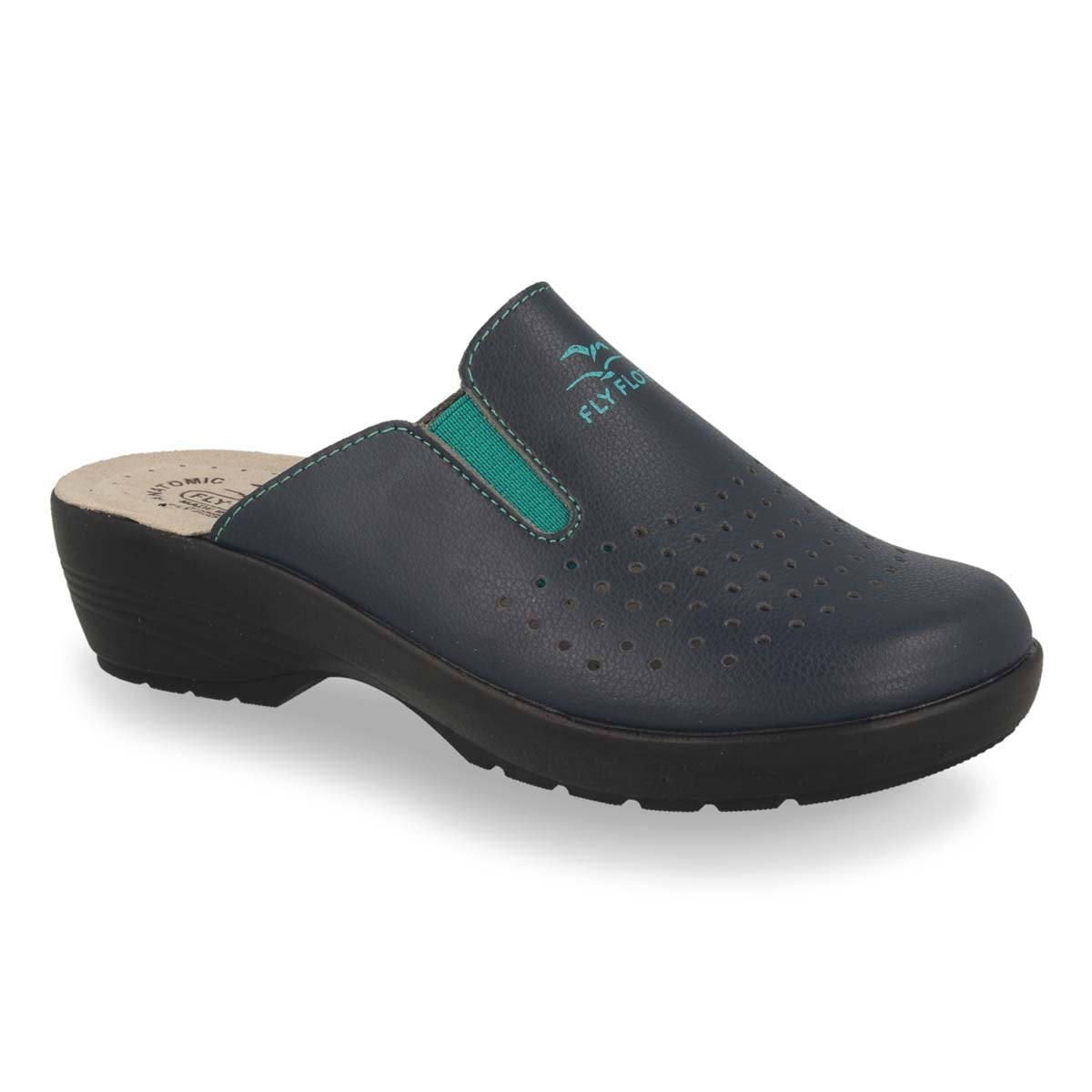 Photo of the Synthetic Woman Slipper Blue (Z1003ea)
