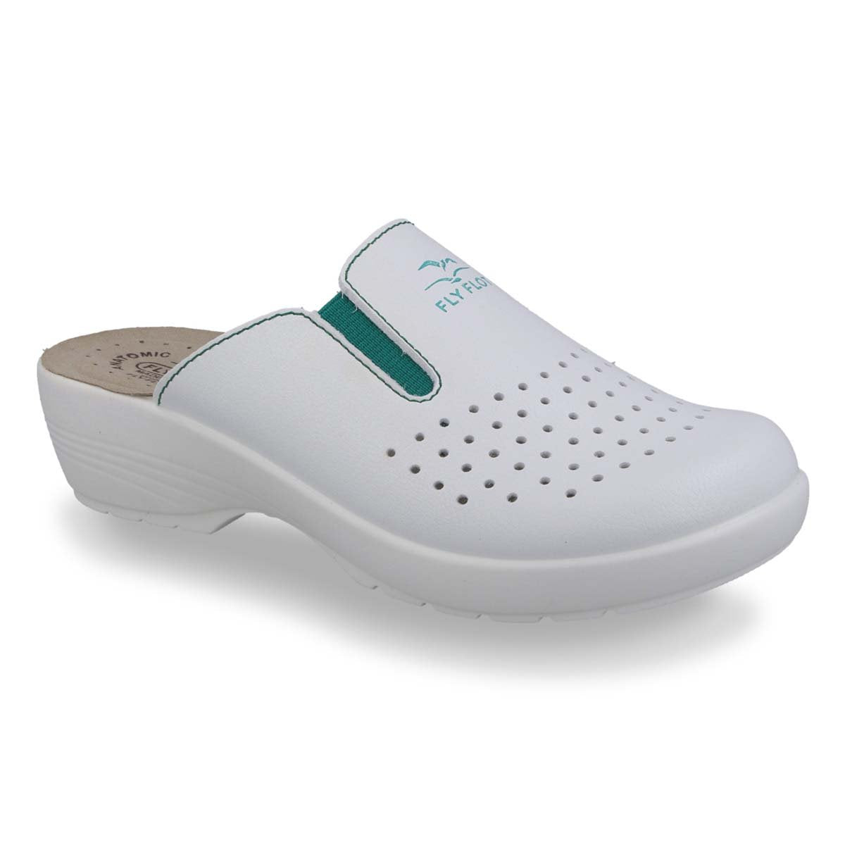 Photo of the Synthetic Woman Slipper White (Z1003ea)