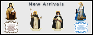 New Arrivals, St. Teresa of Avila Decal, Our Lady of Good Success Decal, St. Dominic Decal, St. Catherine of Siena Decal