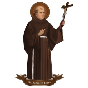St. Junipero Serra Decal