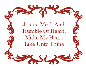 Sacred Heart Prayer Decal