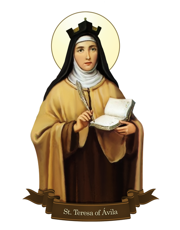 St. Teresa of Avila Decal