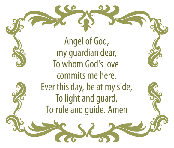 Guardian Angel Prayer Decal