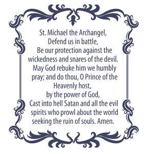 St. Michael the Archangel Prayer Decal