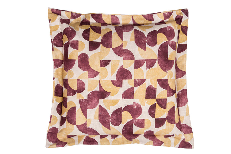 Audrey Large Cushion, Aubergine