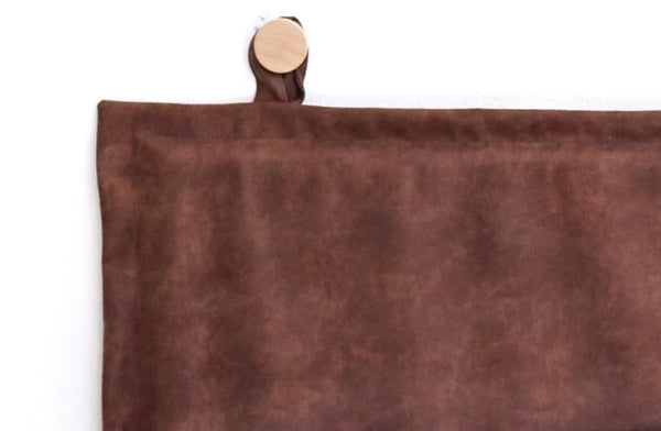 Tanner Leather Headboard, Brown