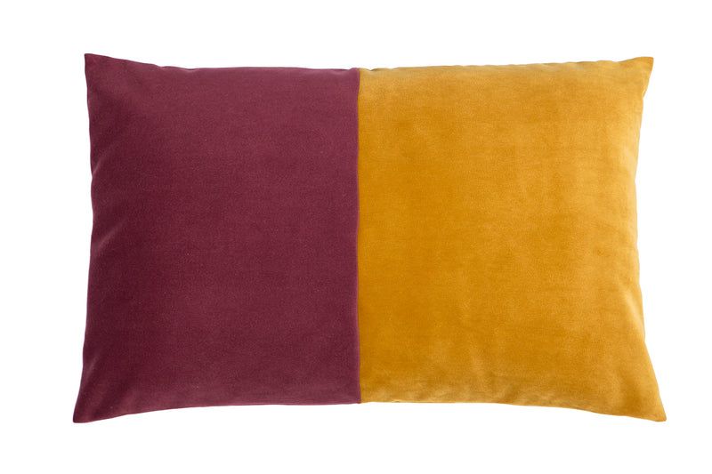 London Rectangular Cushion, Mustard