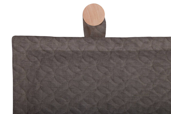 Quilted Headboard, Grey