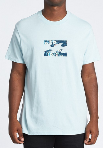 Team Wave Short Sleeve Tee - Costal Blue