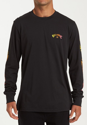 Arch Link Long Sleeve Tee - Black