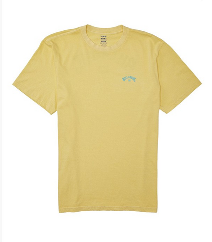 Arch Wave Short Sleeve T-Shirt - Light Yellow