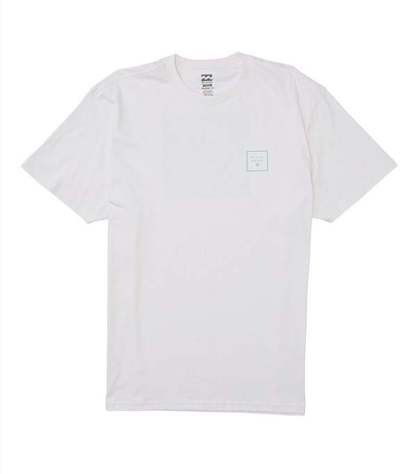 Stacked Fill Short Sleeve Tee - White