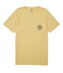 Coast To Coast Pocket Short Sleeve Tee - Light Yellow