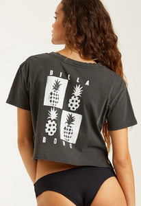 Mod Pineapple T-Shirt - Off Black