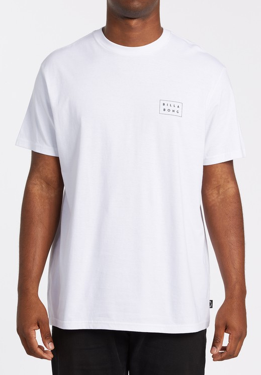 Diecut Short Sleeve Tee - White