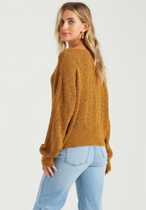 Feel The Breeze Sweater - Antique Gold