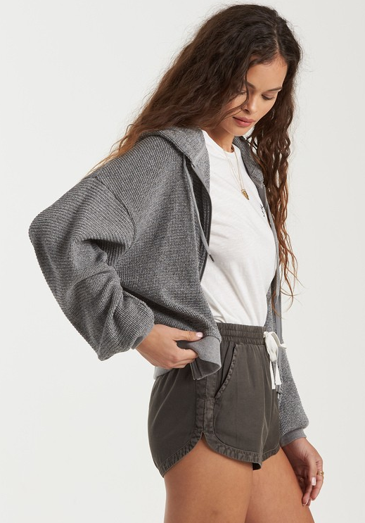 Perfect Sunday Hooded Top - Athletic Grey
