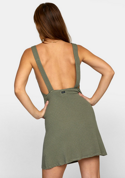 Bronwen Dress - Khaki Sage